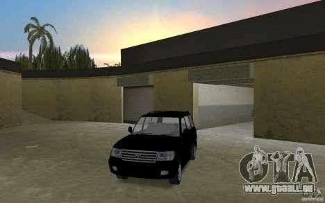 Toyota Land Cruiser 100 VX V8 pour une vue GTA Vice City de la droite
