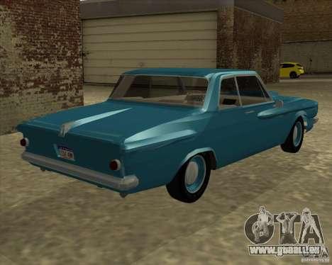 Plymouth Savoy 1962 pour GTA San Andreas laissé vue