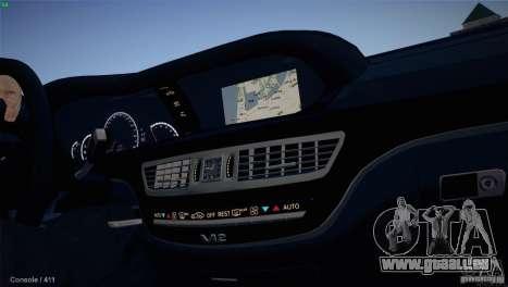 Mercedes-Benz S65 AMG pour GTA San Andreas sur la vue arrière gauche