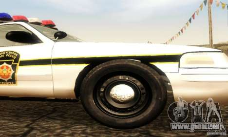 Ford Crown Victoria Pennsylvania Police für GTA San Andreas rechten Ansicht