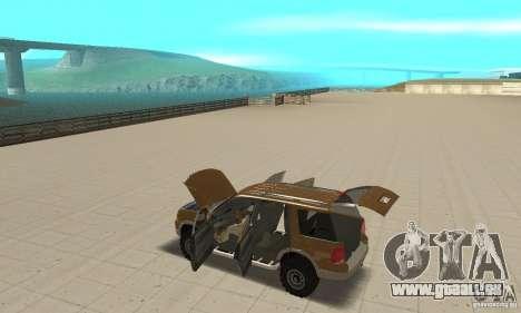 Ford Explorer 2002 pour GTA San Andreas vue de dessus