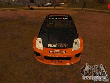 Nissan 350Z NOS Energy Drink pour GTA San Andreas sur la vue arrière gauche