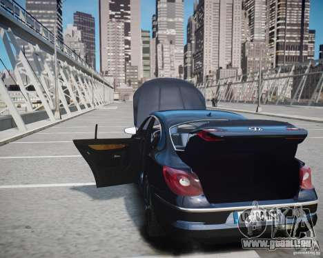 Volkswagen Passat CC pour GTA 4 est une vue de dessous