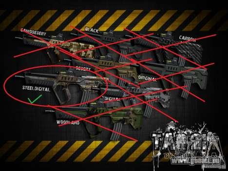 Tavor Tar-21 Steeldigital pour GTA San Andreas quatrième écran