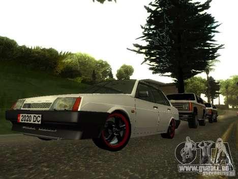 VAZ 21099 c. 2 pour GTA San Andreas vue arrière