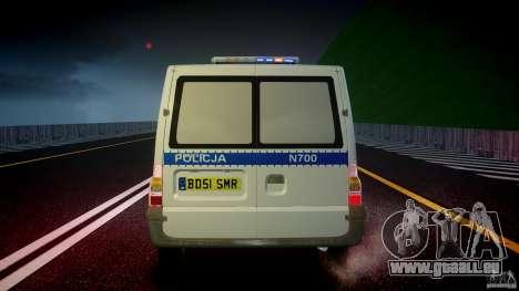 Ford Transit Polish Police [ELS] für GTA 4 Innen