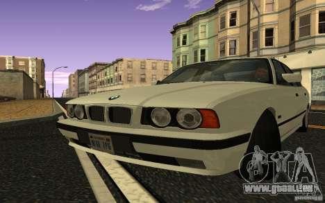 BMW 525 (E34) V.2 pour GTA San Andreas sur la vue arrière gauche