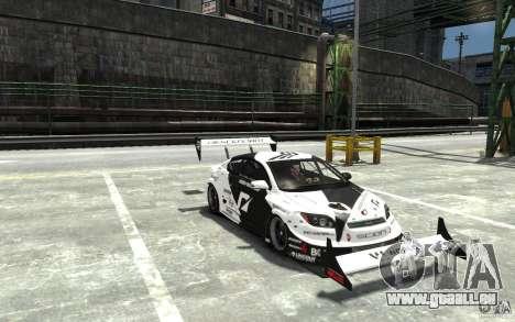 Scion tC AWD V1.0 für GTA 4 Rückansicht