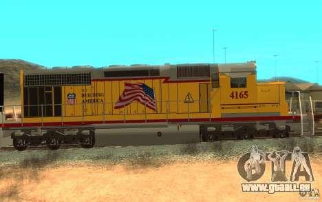 SD 40 Union Pacific Building America pour GTA San Andreas sur la vue arrière gauche