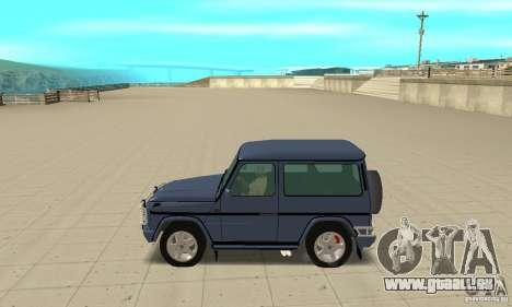Mercedes-Benz G500 1999 Short [with kangoo v2] pour GTA San Andreas laissé vue