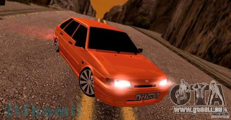 Ваз 2114 saftige Orange für GTA San Andreas