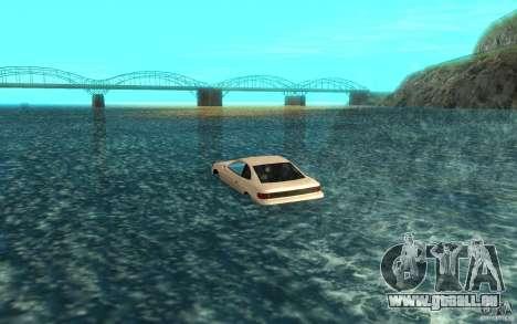 Alpha boat pour GTA San Andreas sur la vue arrière gauche