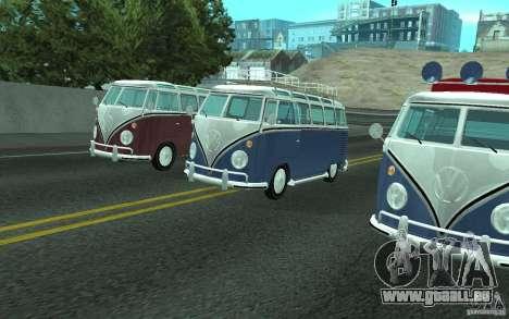 Volkswagen Transporter T1 SAMBAQ CAMPERVAN pour GTA San Andreas vue intérieure