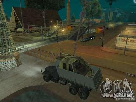 KrAZ-256 b 1-030 pour GTA San Andreas sur la vue arrière gauche