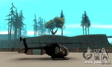 AH-6C Little Bird für GTA San Andreas linke Ansicht
