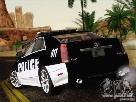 Cadillac CTS-V Police Car pour GTA San Andreas vue de droite