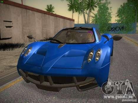 Pagani Huayra pour GTA San Andreas laissé vue
