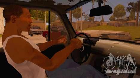 Zastava 750 4x4 Camo pour GTA San Andreas vue intérieure