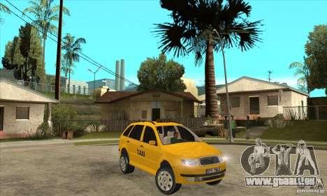 Skoda Fabia Combi Taxi für GTA San Andreas Rückansicht