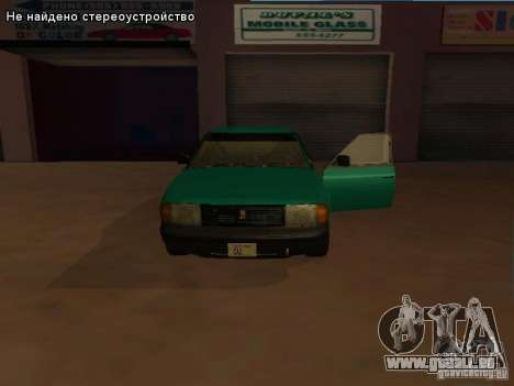 Moskvich 2141 pour GTA San Andreas sur la vue arrière gauche