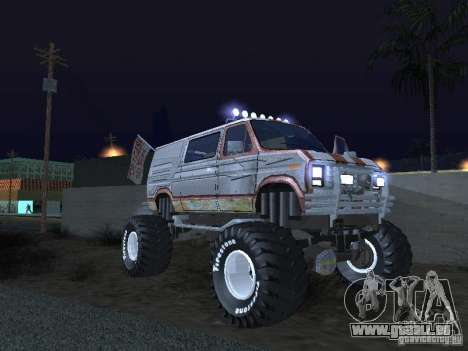 Ford Grave Digger für GTA San Andreas Rückansicht
