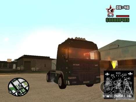 DAF XF für GTA San Andreas zurück linke Ansicht