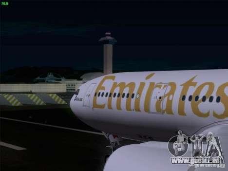 Airbus A330-200 Emirates pour GTA San Andreas vue intérieure