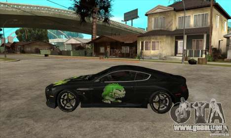 Aston Martin DB9 NFS PS Tuning pour GTA San Andreas laissé vue