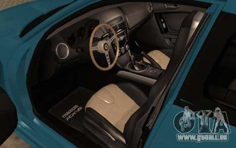 Mazda RX8 VIP pour GTA San Andreas vue arrière