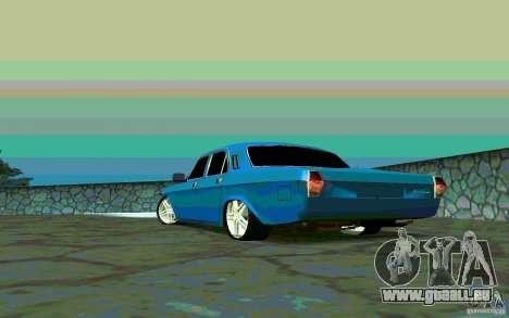 GAZ 24 v 1.0 pour GTA San Andreas sur la vue arrière gauche