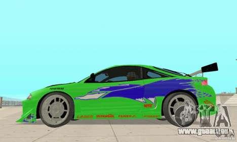 Mitsubishi Eclipse FnF für GTA San Andreas zurück linke Ansicht