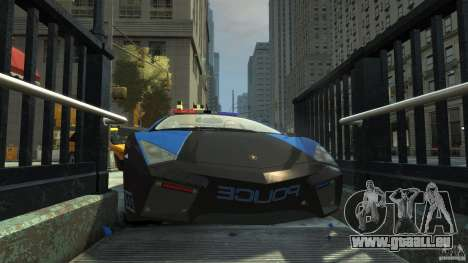 Lamborghini Reventon Police Hot Pursuit pour GTA 4 est une vue de dessous
