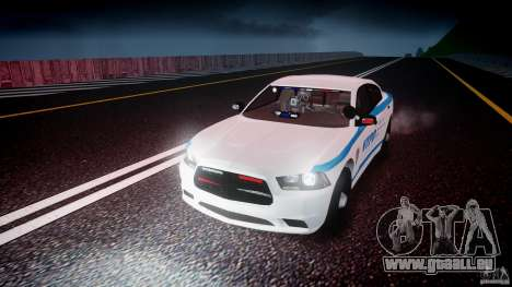 Dodge Charger NYPD 2012 [ELS] für GTA 4 obere Ansicht