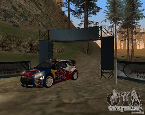Citroen DS3 WRC pour GTA San Andreas laissé vue
