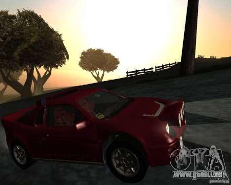 Ford RS 200 pour GTA San Andreas vue intérieure