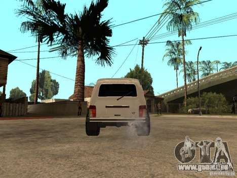 Le Niva VAZ 21213 léger Tuning pour GTA San Andreas sur la vue arrière gauche