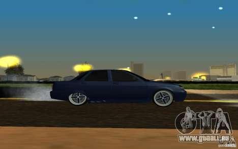 Tuning de voiture LADA PRIORA pour GTA San Andreas sur la vue arrière gauche