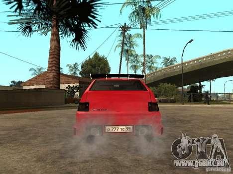 Lada 2112 GTS Sprut pour GTA San Andreas sur la vue arrière gauche