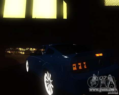 Shelby Mustang 2009 pour GTA San Andreas vue de droite