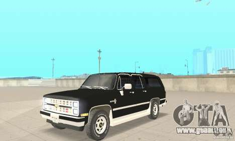 Chevrolet Suburban FBI 1986 pour GTA San Andreas