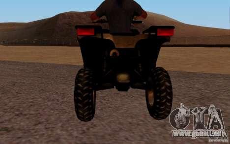 Quadbike from BF 3 pour GTA San Andreas vue de droite