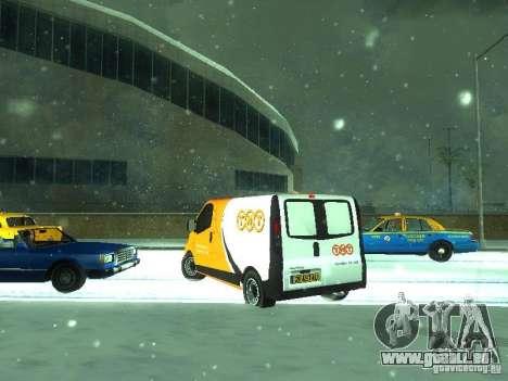 Vauxhall Vivaro v1.1 TNT pour GTA San Andreas sur la vue arrière gauche