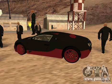 Bugatti Veyron Super Sport für GTA San Andreas zurück linke Ansicht