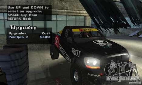 Dodge Power Wagon Paintjobs Pack 2 für GTA San Andreas Innenansicht