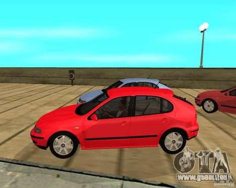 Seat Leon 1.9 TDI pour GTA San Andreas laissé vue