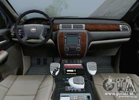Chevrolet Suburban EMS Supervisor 862 pour GTA San Andreas salon