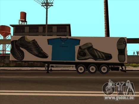 Remorque Adidas pour GTA San Andreas laissé vue