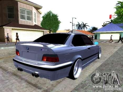 BMW M3 E36 Light Tuning für GTA San Andreas zurück linke Ansicht