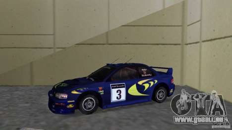 Subaru Impreza 22B Rally Edition für GTA Vice City linke Ansicht