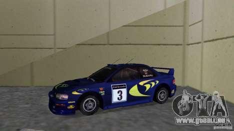 Subaru Impreza 22B Rally Edition pour une vue GTA Vice City de la gauche